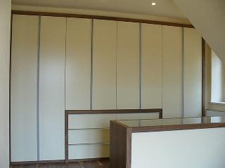 Schlafzimmer Front MDF lackiert Champagner